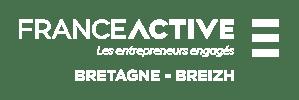 France Active Bretagne logo blanc
